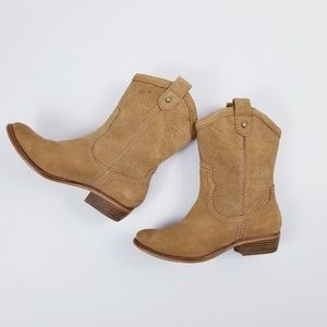 Fossil Western Boots Suede Leather Size 7